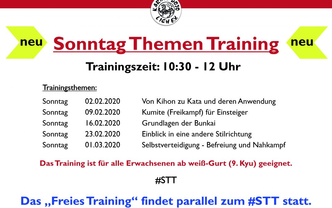 Sonntag Themen Training