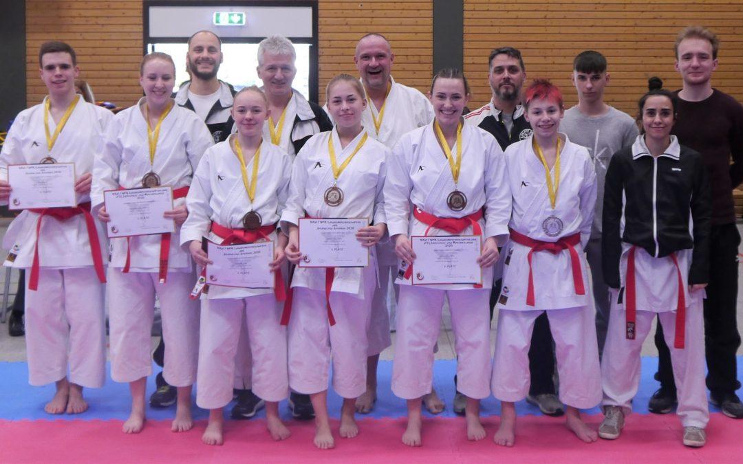 1 x Gold, 3 x Silber und 9 x Bronze für Licher Karateka bei den Landesmeisterschaften