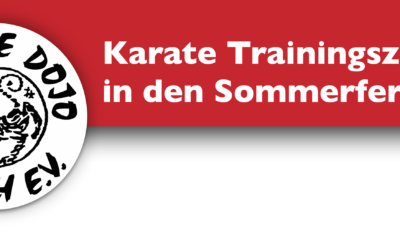 Trainingszeiten in den Sommerferien!